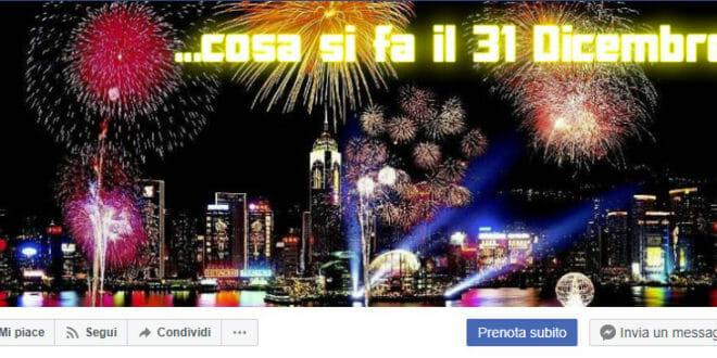 Capodanno su Facebook, la pagina.