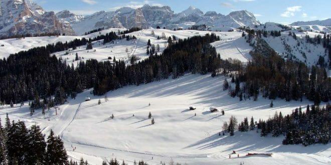 Splendidi panorami durante una settimana bianca di capodanno