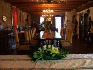 Il salone della dimora storica dove si svolgerà la festa
