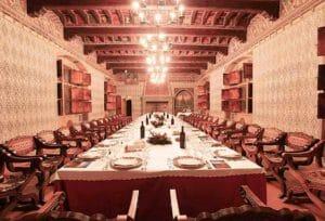 Il salone del castello dove si svolgerà il capodanno medievale