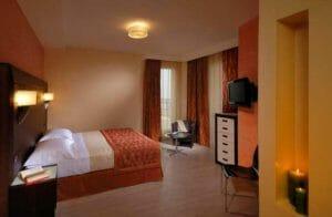 Una camera dell'hotel La Cartiera