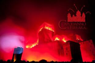 Capodanno a Ferrara: incendio del Castello