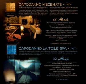 I menu di capodanno a Villa Cilnia di Arezzo