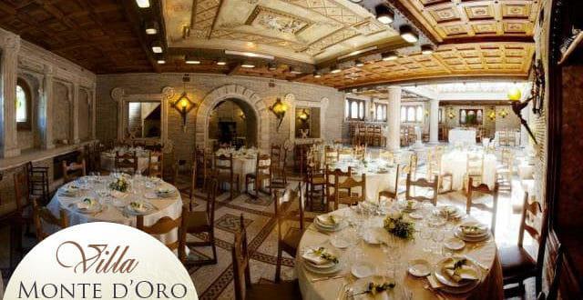 Sala del veglione di capodanno di Villa Monte d'Oro a Roma