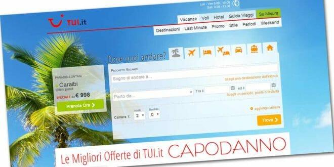TUI: le offerte di capodanno