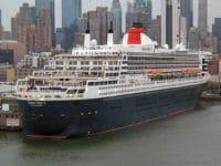 Cunard: la Queen Mary a New York dopo la crociera transatlantica di capodanno