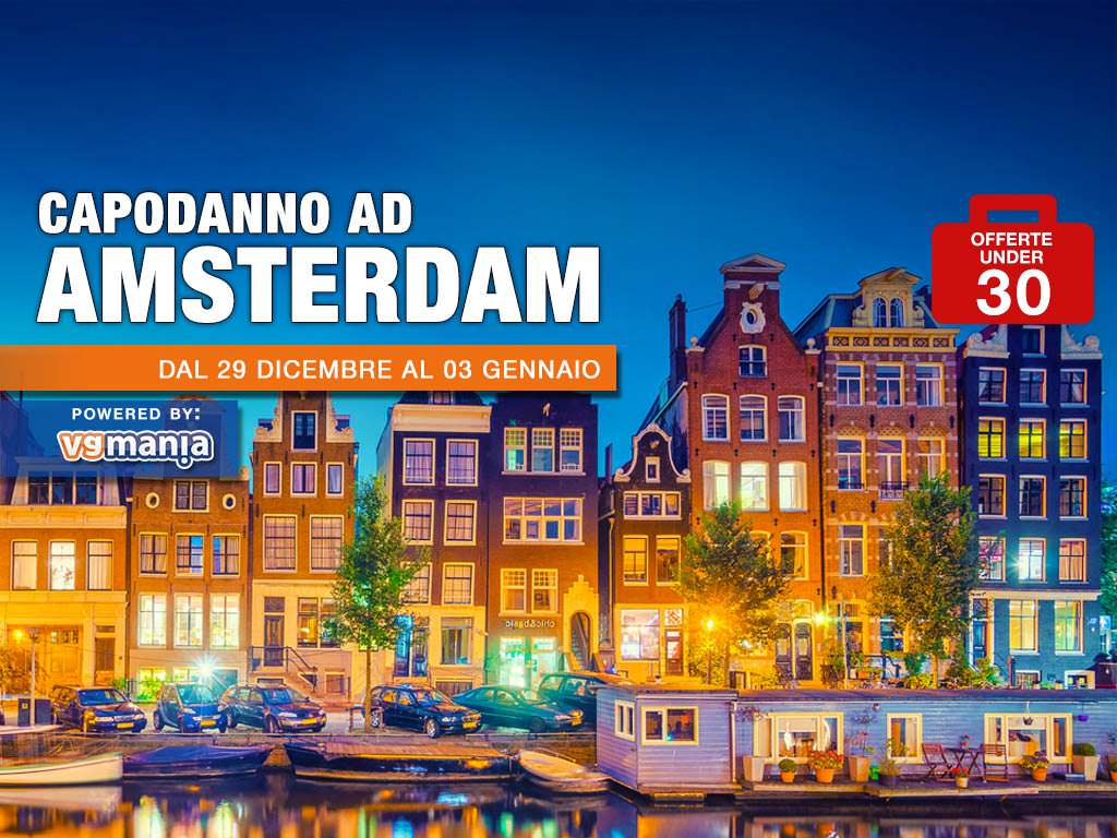 Capodanno ad amsterdam in pullman con vgmania 2019 for Case low cost amsterdam