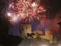 Fuochi dalle torri del Castello di Griopparello