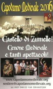 Locandina del Capodanno 2016 al castello di Zumelle