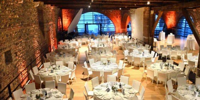 La sala del cenone di gala della Dogana Veneta