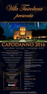 capodanno 2016 a Villa Tuscolana