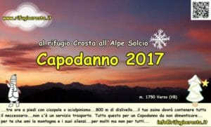 capodanno 2017 al Rifugio Crosta