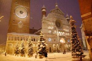 Cremona sotto la neve a capodanno