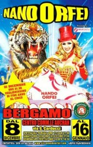 """La locandina del capodanno 2017 al Circo """"Nando Orfei"""""""