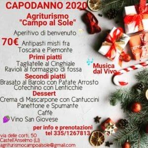 Capodanno agriturismo Campo al Sole Livorno