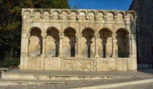Capodanno a Isernia, la fontana