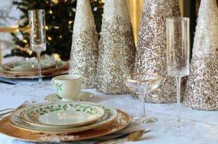 Festeggiamenti di capodanno, la tavola apparecchiata