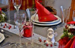 Festeggiamenti di Capodanno, decorazioni a tavola